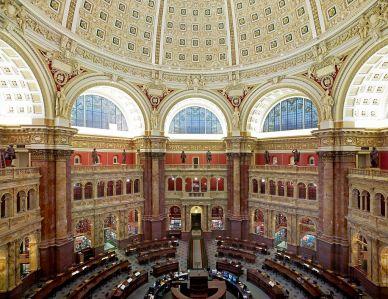 Main Reading Room, The Library of Congress, Washington, DC