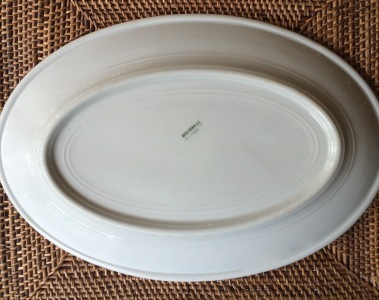 Back Stamp, Warwick Vitrified China Platter with Double Black Line (L277)