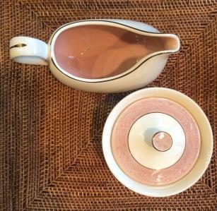 Shadows, Creamer and Sugar Bowl by John Gilkes for Taylor, Smith, Taylor
