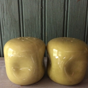 Our Give Away: Chartreuse Salt and Pepper Shakers