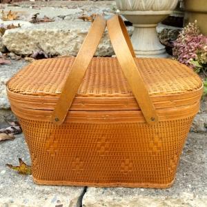 Rare Red-Man Vintage Picnic Basket