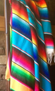 Bright Saltillo Blanket, Made in Mexico