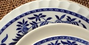 Blue and White Ironstone, Bailey-Walker China, ca. 1930s
